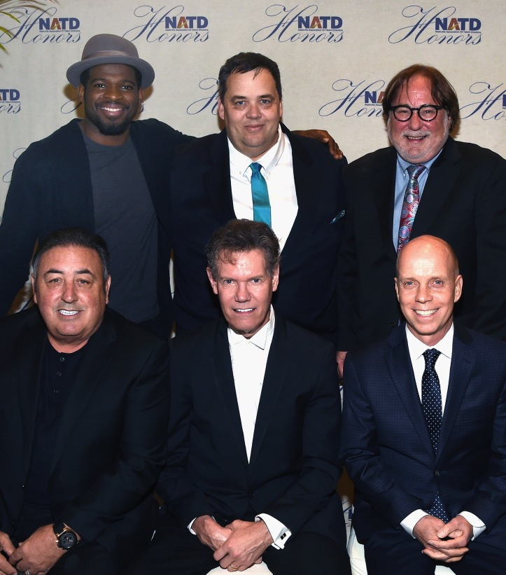 NASHVILLE, TN - NOVEMBER 09:  Honorees Back Row: P.K. Subban, Mike Smardak, Rod Essig. Front Row: Doc McGhee, Randy Travis and Scott Hamilton attend the 2016 NATD Honors Gala at the Hermitage Hotel on November 9, 2016 in Nashville, Tennessee.  (Photo by Rick Diamond/Getty Images for NATD)