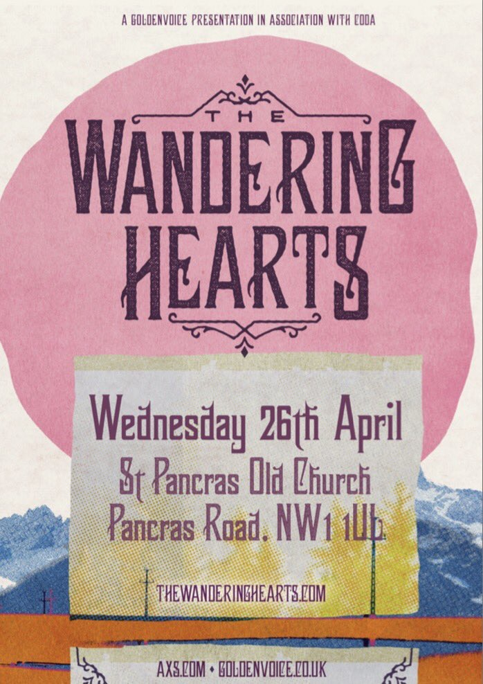 AMERICANA FOLK QUARTET THE WANDERING HEARTS GIG AT ST PANCRAS OLD
