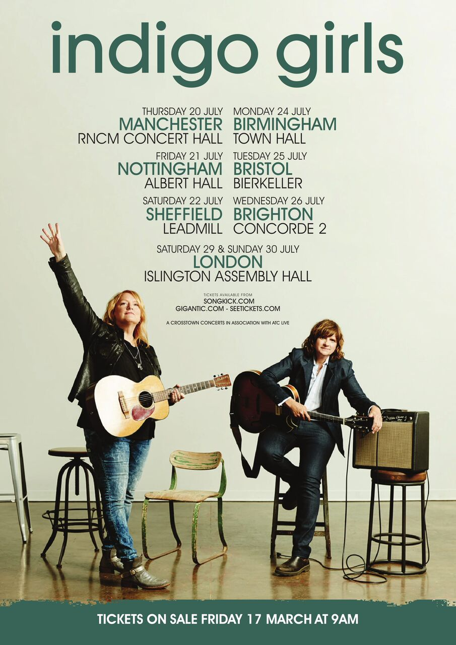 indigo girls islington assembly hall london review building our own nashville. Black Bedroom Furniture Sets. Home Design Ideas