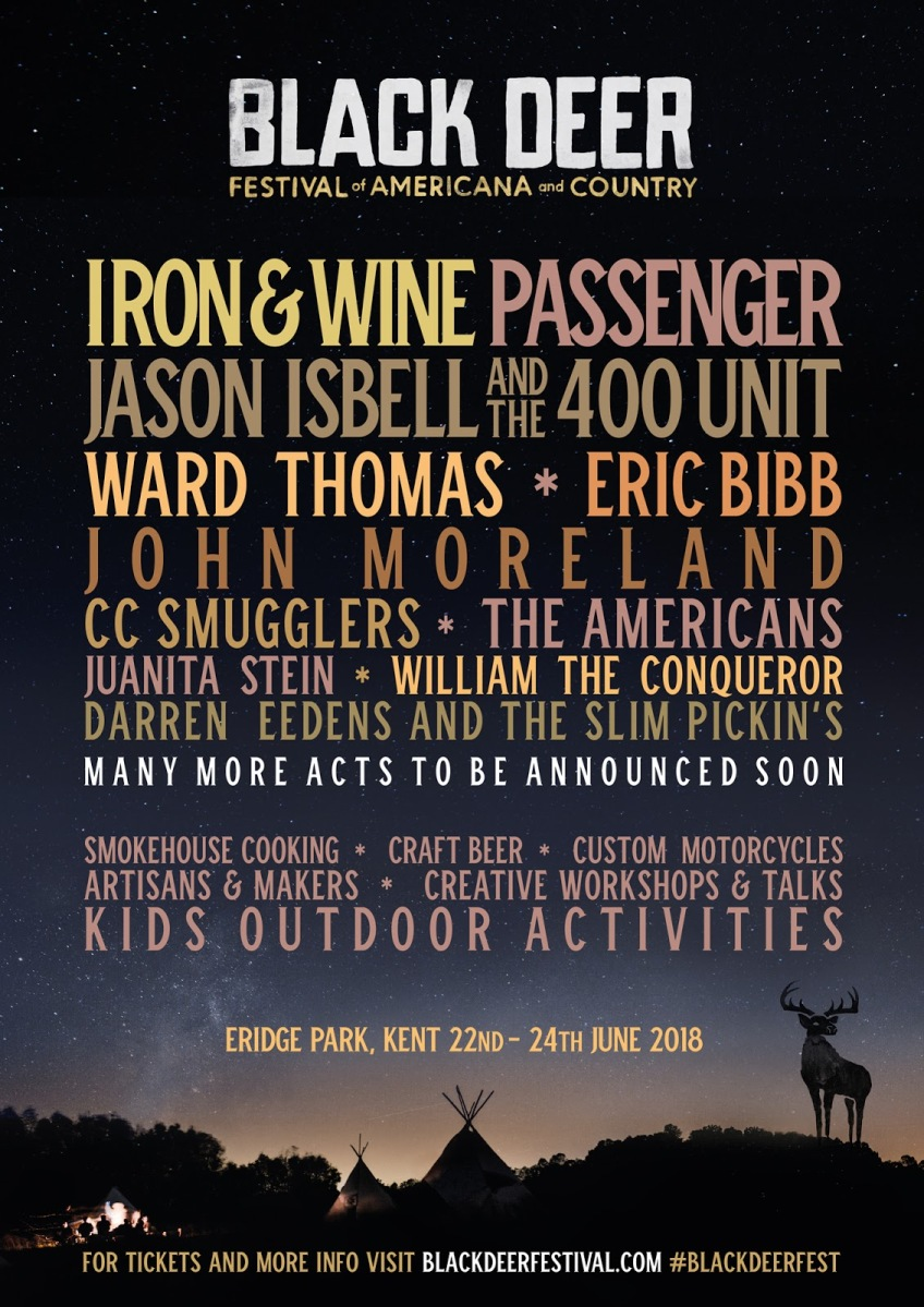 BRAND NEW COUNTRY/AMERICANA FESTIVAL - BLACK DEER - TAKING PLACE AT ERIDGE PARK, KENT, 2018