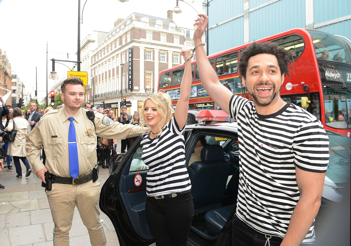 The Shires arrested at HMV Oxford Street