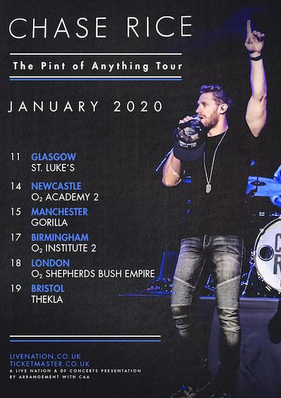 Image result for chase rice  uk gigs
